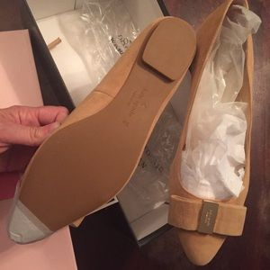 Kate Spade Norah Suede Flats - Size 9 - Biscotti